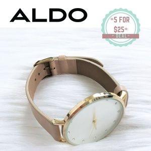 * ALDO nude light pink women's watch